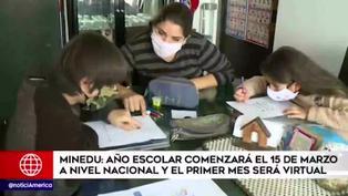 Ministerio de Educación anuncia inicio del año escolar para el 15 de marzo a nivel nacional
