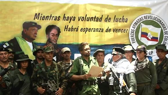 Disidentes de las FARC anunciaron que retomarán a las armas, pese al acuerdo de paz firmado en 2016. (Foto: YouTube)