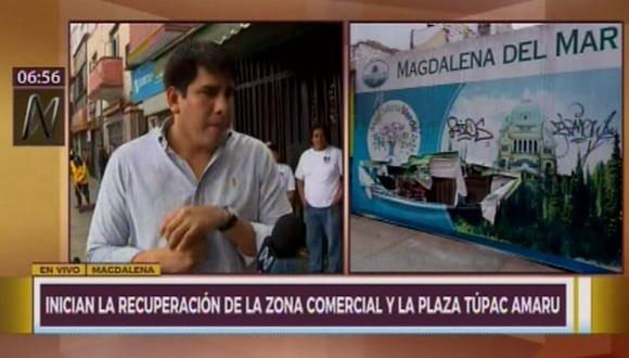 Alcalde de Magdalena anuncia que debatirá en sesión del Concejo propuesta para prohibir que cambistas trabajen en las calles. (Captura: Canal N)