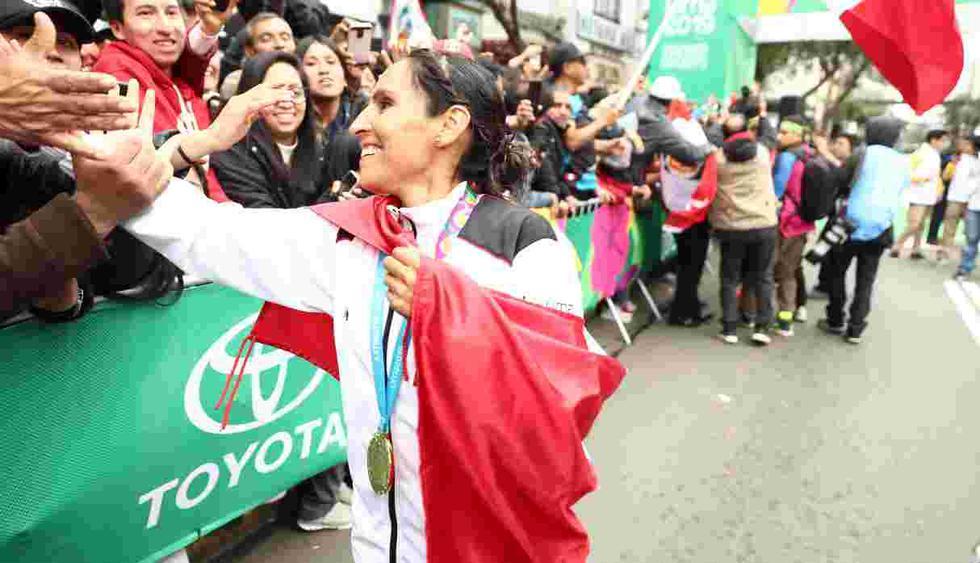 Gladys Tejeda – Oro en Maratón (Foto: GEC)