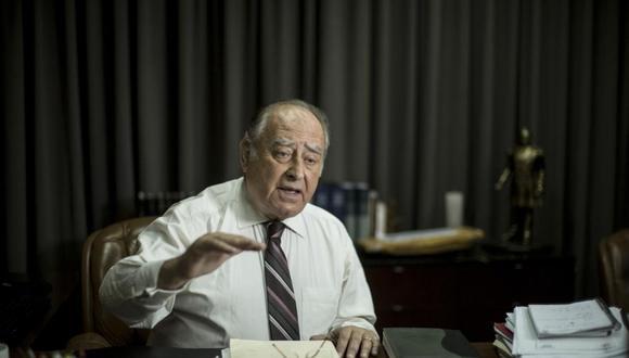 Ántero Flores-Aráoz es el primer ministro del gobierno de Manuel Merino de Lama, quien asumió la presidencia tras la vacancia de Martín Vizcarra. (Foto: Karen Zárate / GEC)