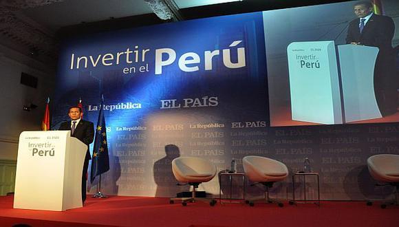 """Humala participó en inauguración de evento empresarial \""""Invertir en el Perú\"""". (Andina)"""