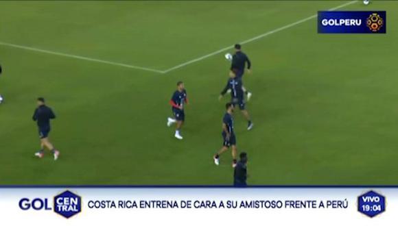 Los jugadores de Costa Rica reconocieron el campo un día antes del amistoso ante Perú. (Captura y video: Gol Perú)
