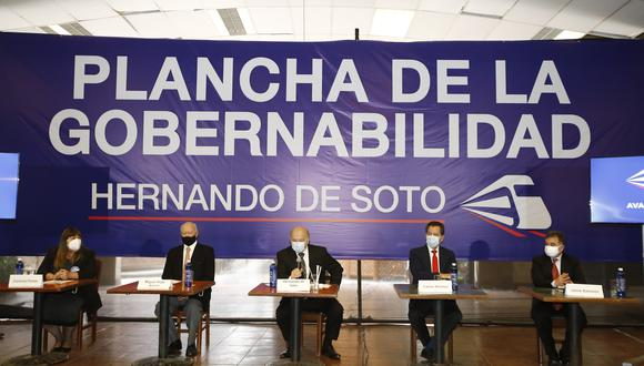 Lista de candidatos de Avanza País al Congreso por Lima quedó expedito para las Elecciones 2021. (Foto: Jessica Vicente / GEC)