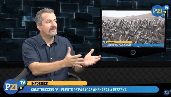 Stefan Austermühle advirtió sobre los riesgos en la construcción del nuevo Terminal Portuario de Paracas. (Perú21TV)