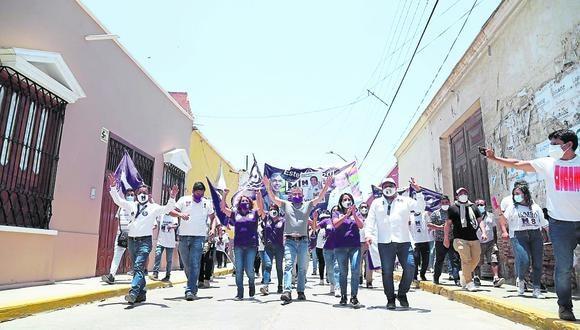 A octubre de 2020, el Partido Morado contaba con 17,665 afiliados a nivel nacional. Según las nuevas normas, para inscribir una agrupación política se requiere unos 24 mil militantes, además de los comités provinciales. (Foto: GEC)