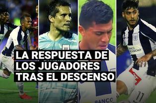 Alianza Lima: así respondieron los jugadores blanquiazules tras descender a la Liga 2