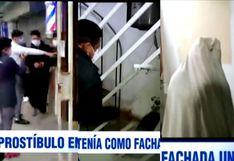 Los Olivos: Prostíbulo clandestino funcionaba bajo fachada de barbería | VIDEO