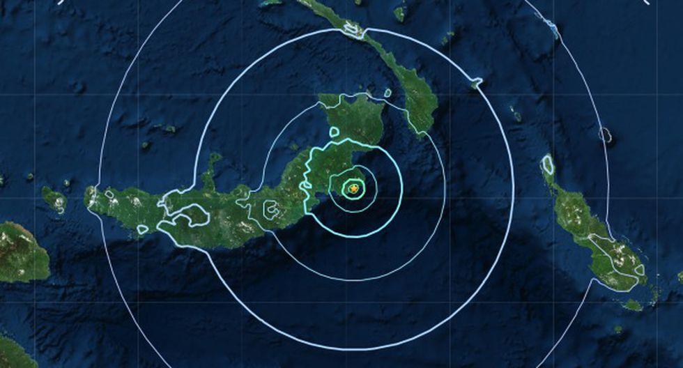 El Servicio Geológico de Estados Unidos (USGS) localizó el hipocentro a 10 kilómetros de profundidad, según datos preliminares. (Foto: Mapa de USGS)