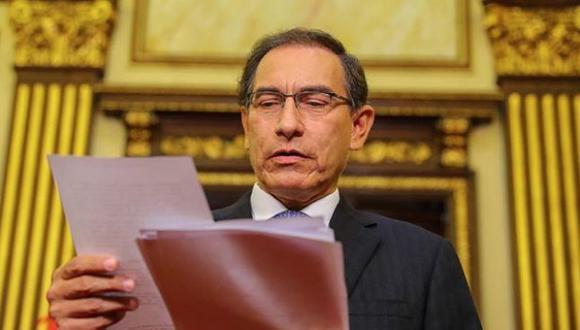 Presidente Vizcarra se mostró satisfecho con los resultados del Referéndum. (Presidencia)