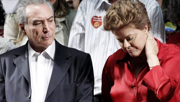 Proceso sobre supuesto fraude electoral seguido contra Michel Temer y Dilma Rousseff fue suspendido (Reuters).