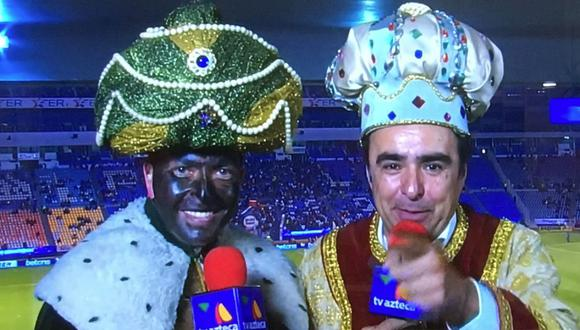 El maquillaje 'blackface de Carlos Guerrero no fue bien recibido en México. (TV Azteca)