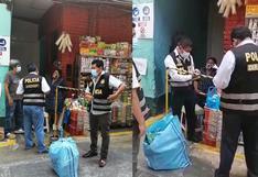 PNP intervienen local y halla más de 5 mil cigarrillos ilegales en la calle Capón | VIDEO