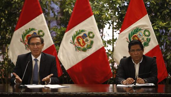 Preparados. El paquete del Gobierno, anunciado por Martín Vizcarra, tiene dos lineamientos: atención de emergencias y el soporte económico para los hogares. (Foto: José Rojas Bashe/GEC)
