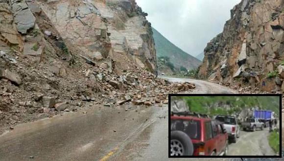 Siguen los cierres vehiculares en carreteras producto de los deslizamientos