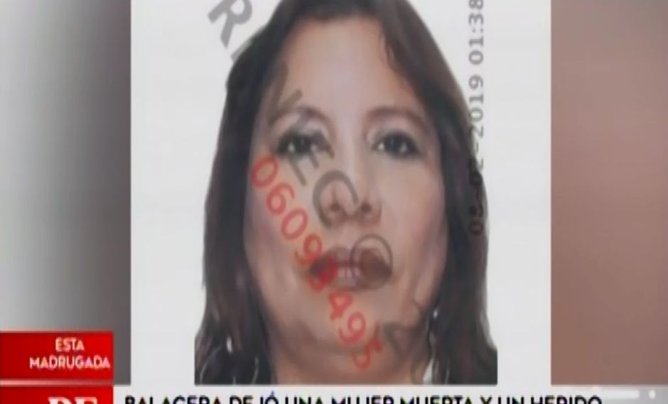 Marina de los Ángeles Bellodas Vásquez (52) recibió tres disparos de bala en el pecho. (Captura: América Noticias)