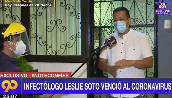 El médico infectólogo Leslie Soto ya se encuentra en su casa tras superar el COVID-19. (Latina)