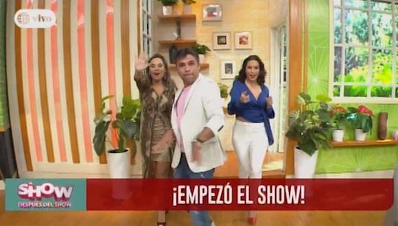 """Así inició """"El show después del show"""", conducido por Renzo Schuller, Ethel Pozo y Natalia Salas. (Foto: Captura)"""