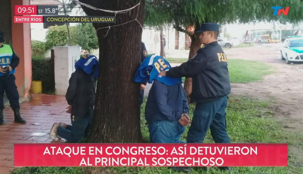 Detienen al principal sospechoso del ataque al diputado Héctor Olivares. (Foto: Captura de video)