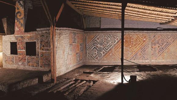 Los frisos de las pirámides cuentan la historia Mochica. (Foto: Ministerio de Cultura)