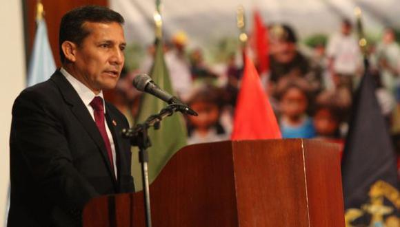 COMPROMISO. Ollanta Humala insiste en preponderancia social de las Fuerzas Armadas. (Andina)