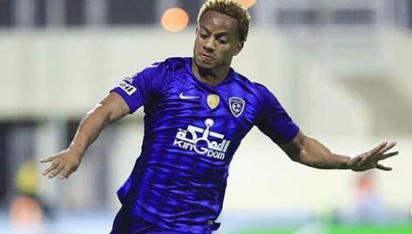 André Carrillo anotó su tercer gol con camiseta de Al Hilal en la liga saudí. (Foto: Al Hilal)