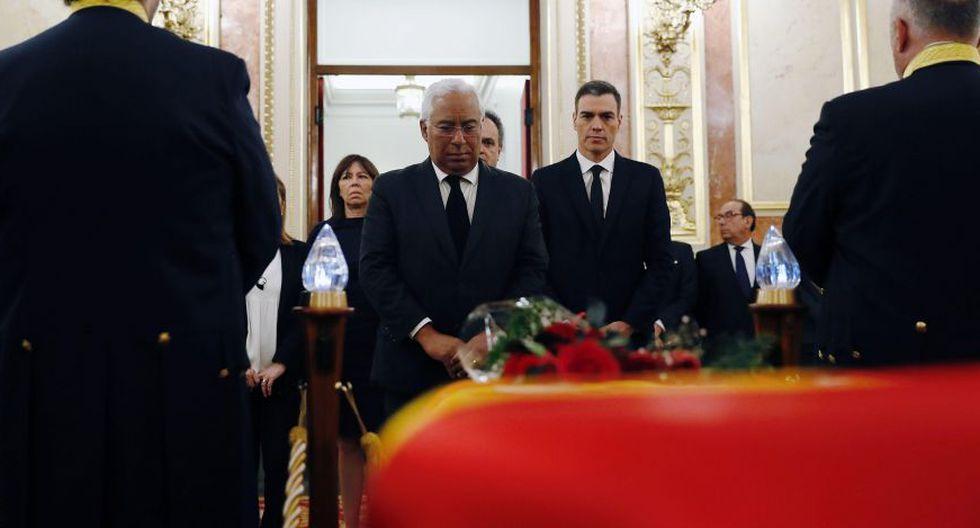 España: Hombre irrumpe en pleno velorio de ex vicepresidente Alfredo Pérez Rubalcaba porque quería hablar con el Gobierno | VIDEO. (EFE)