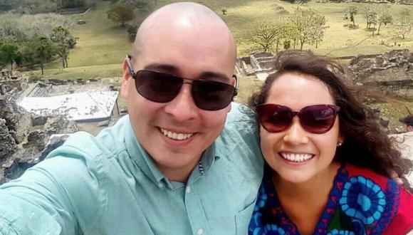 La ex pareja, Abraham Valencia y Parwa Oblitas. (@abrahamvj)