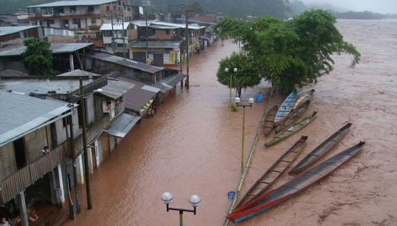 Lluvias generaron el desborde del río Huayabamba, lo que afectó varias viviendas. (USI/Referencial)