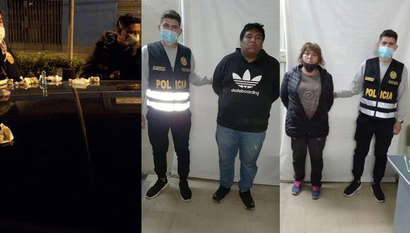 La persecución vehicular se dio en tres distritos. Los intervenidos serán investigados por el presunto delito contra la salud pública bajo la modalidad de tráfico ilícito de drogas (Foto: PNP)
