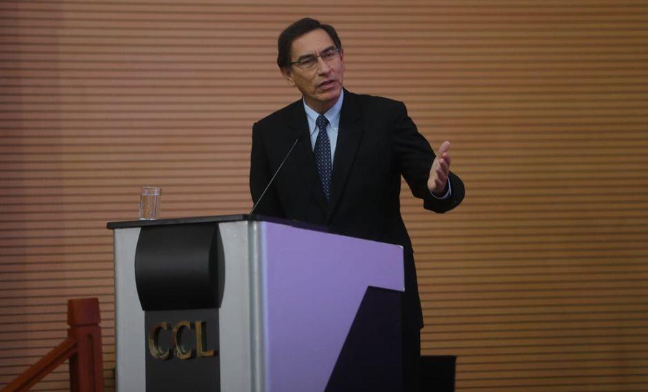 El presidente Martín Vizcarra hizo un llamado a empresarios y autoridades locales a seguir trabajando por el futuro del Perú. (Foto: Difusión)