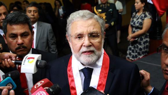 Blume no quiso pronunciarse respecto a la constitucionalidad dela cuestión de confianza anunciada anoche por el presidente Vizcarra. (Foto: Andina)