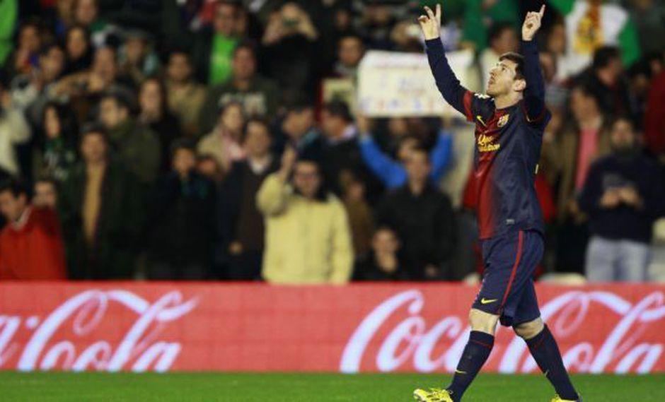 BRILLANTE. Messi definió el triunfo en el 2-1 sobre el Betis. (Reuters)
