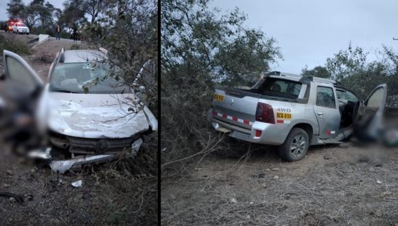Lambayeque: una persona muere tras despiste de camioneta en la madrugada