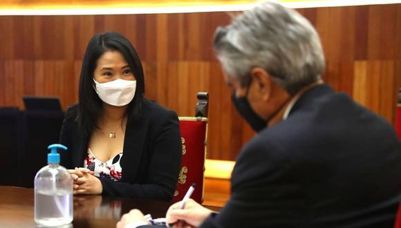 Keiko Fujimori se reunió por una hora y media aproximadamente. (Foto: Presidencia)