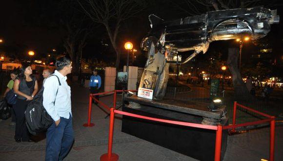 Miraflores exhibe escultura de auto siniestrado para generar conciencia. (Difusión)