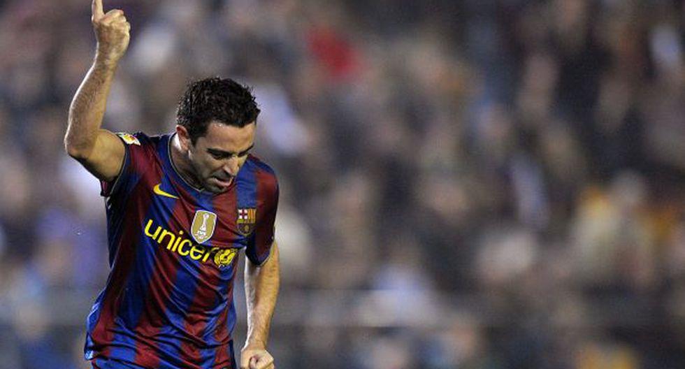 """""""Todo el mundo me ve como entrenador del Barcelona en un futuro pero yo todavía no me veo"""", dijo Xavi. (Foto: AFP)"""