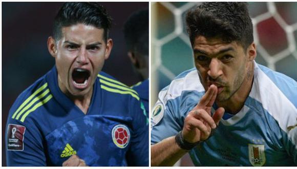 Colombia vs. Uruguay: chocan en Barranquilla por Eliminatorias Qatar 2022. (Foto: AFP)