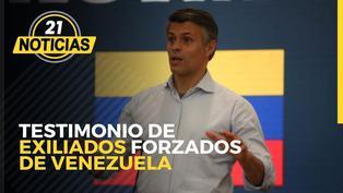 Testimonio de exiliados forzados de Venezuela en el Perú