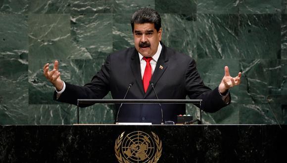 """Maduro buscó presentar su """"verdad"""" sobre la situación en el país. (Foto: EFE)"""