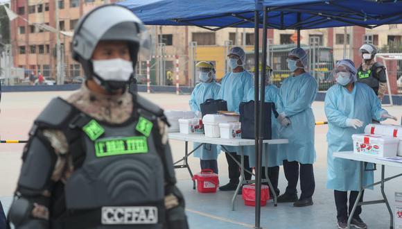 En tres distritos de Lima, en simultáneo, se realiza la Operación TAYTA del grupo Te Cuido Perú. (Foto: Mindef)