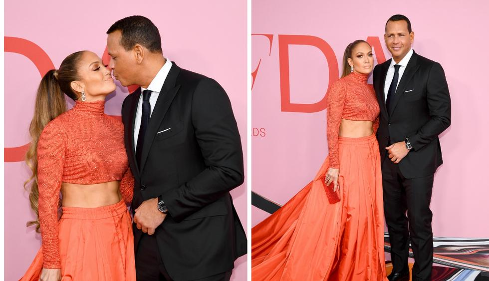 Jennifer Lopez y Álex Rodríguez se lucen en la alfombra roja de los CFDA Awards 2019. (Foto: AFP)