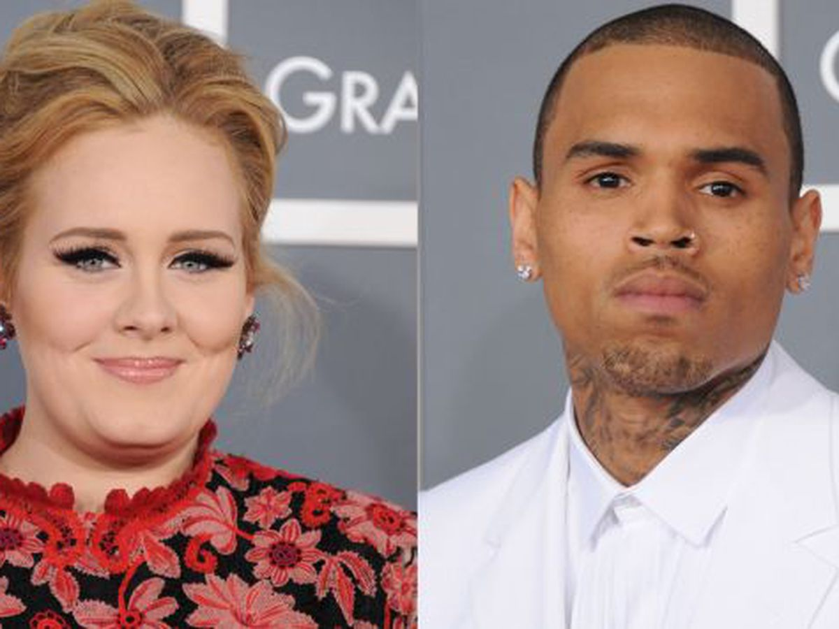 Espectaculos Adele Y Chris Brown Pelearon En Gala De Los Grammy Noticias Peru21 Peru