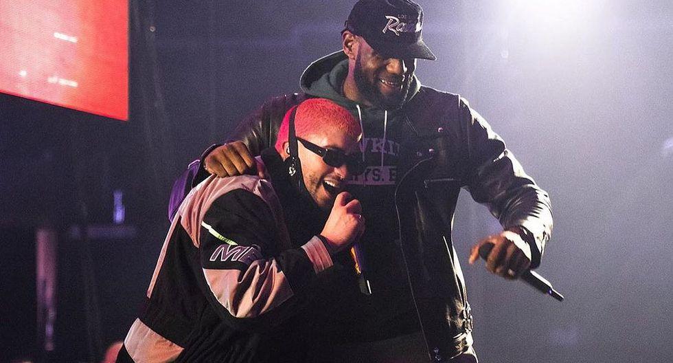 """Bad Bunny y LeBron James interpretaron a dúo el tema """"Callaíta"""". (Foto: @kingjames)"""