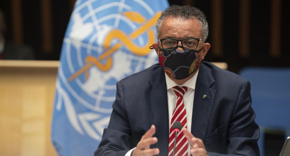 El Director General de la Organización Mundial de la Salud (OMS), Tedros Adhanom Ghebreyesus, asiste a una sesión especial en Ginebra. (Christopher Black / World Health Organization / AFP).