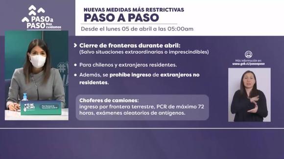 Chile cierra sus fronteras durante abril por aumento de casos de coronavirus