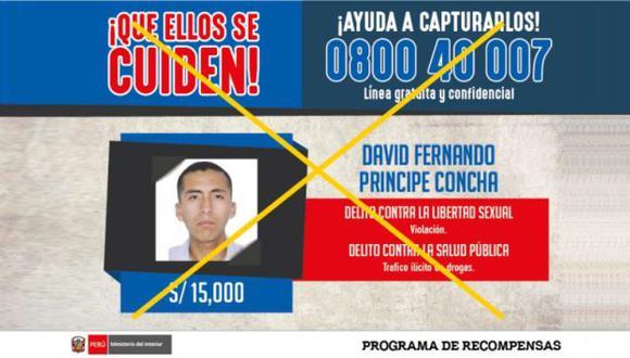 David Fernando Príncipe Concha fue capturado cuando pretendía ingresar a su centro de labores. (Difusión)