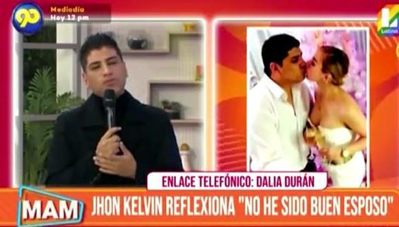 John Kelvin hace 'mea culpa' y ofrece disculpas públicas a Dalia Durán. (Foto: captura de video)