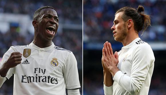 Vinicius ovacionado por los hinchas del Real Madrid. Gareth Bale, pitado. (Foto: AP/Reuters)