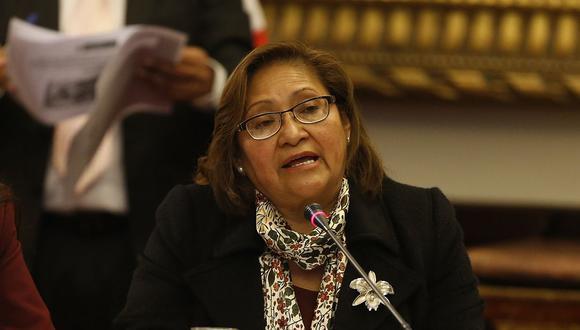 La congresista Ana María Choquehuanca, vocera alterna de PpK, recordó que no hubo un pedido formal o por escrito para que la bancada cambie de nombre. (Foto: GEC)